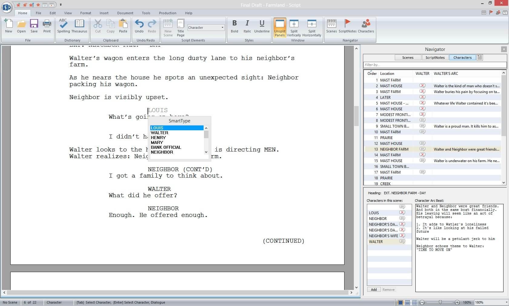 Script Breakdown - Character Report - StudioBinder