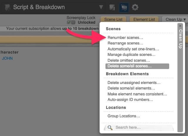 Script Breakdown - Generate Scenes - StudioBinder
