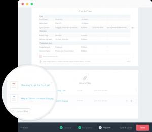 StudioBinder Call Sheet Software | Attach files to call sheets