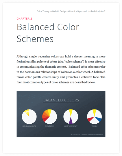 How to Use Color in Film Ebook - Balanced Movie Color Schemes - StudioBinder
