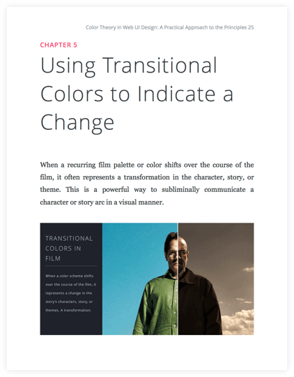 How to Use Color in Film Ebook - Transitional Movie Color Schemes to Indicate Change - StudioBinder