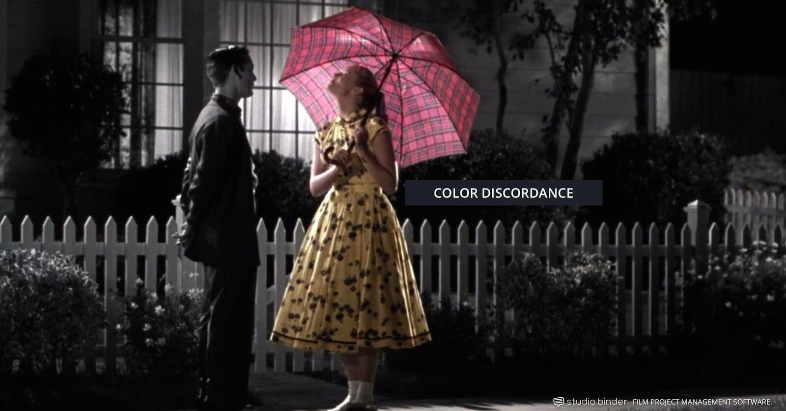 How to Use Color in Film - Example of Movie Color Palette and Scheme - Color Discordance - Pleasantville-min