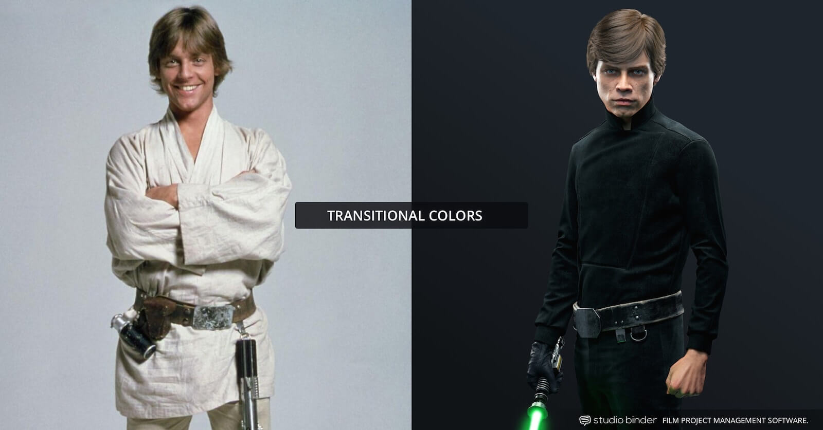 How to Use Color in Film - Example of Movie Color Palette and Scheme - Transitional - Luke Skywalker-min
