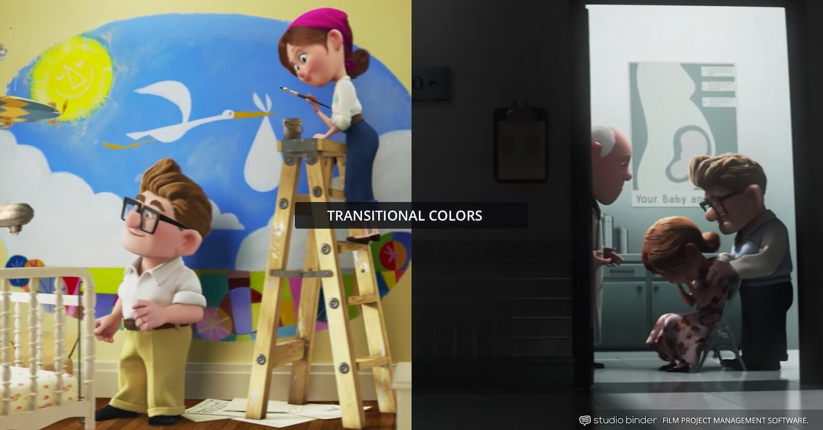 How to Use Color in Film - Example of Movie Color Palette and Scheme - Transitional - Up-min