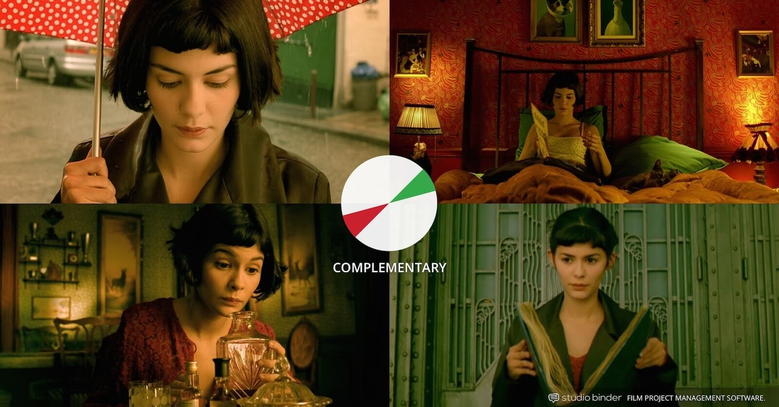 How to Use Color in Film - Example of Movie Color Palette and Schemes - Complementary - Amelie-min