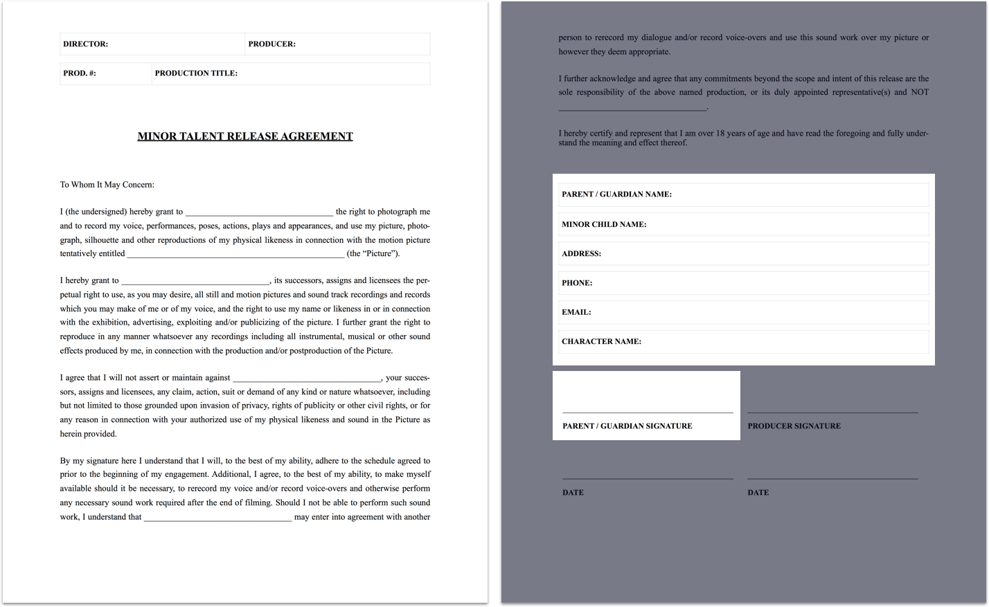 The Complete Guide to Actor Release Forms (FREE Template)