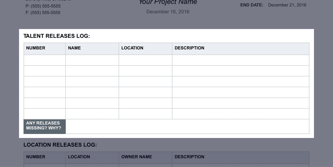 Daily Production Report Template - 09 - StudioBinder