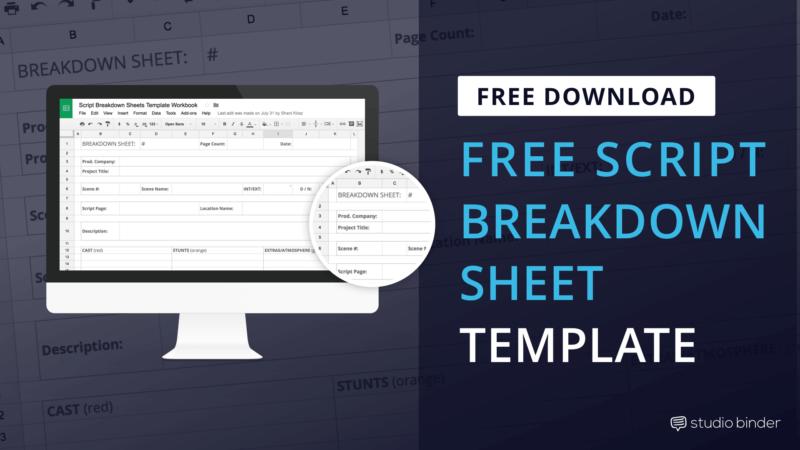 Download FREE Script Breakdown Sheet Template