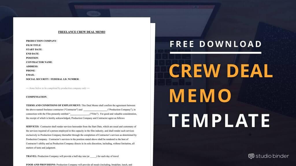 Download FREE Crew Deal Memo Template