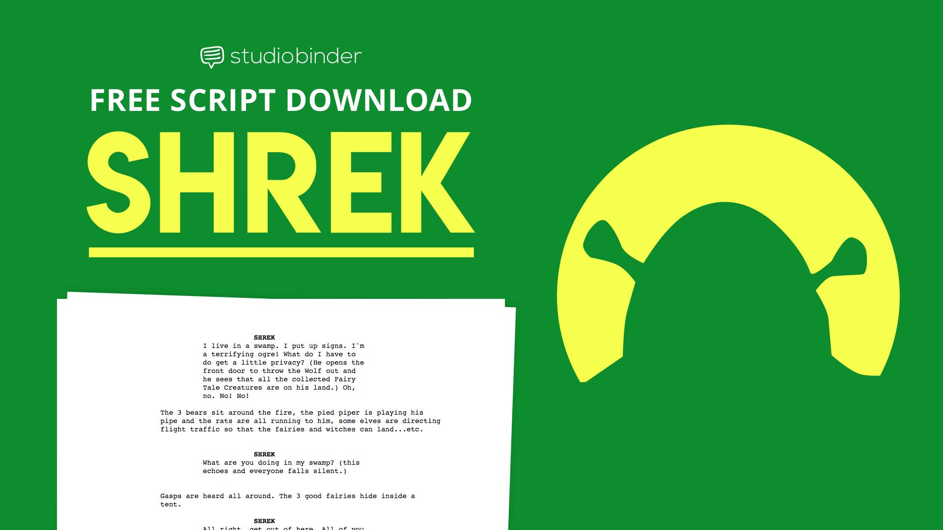 shrek script explained  download the entire shrek script pdf free