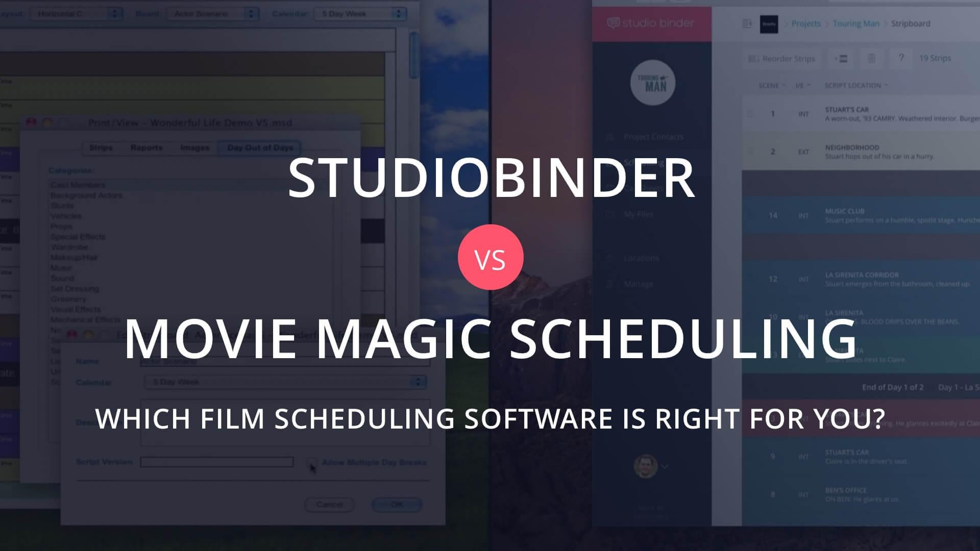 The Best Alternative To Movie Magic Scheduling