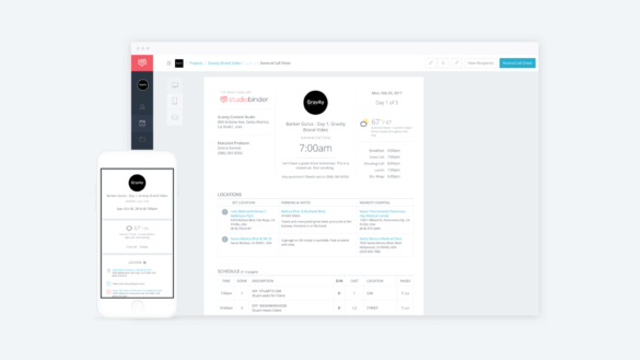 New Release - Call Sheet Improvements, film crew list customization, and privacy controls - StudioBinder Hero