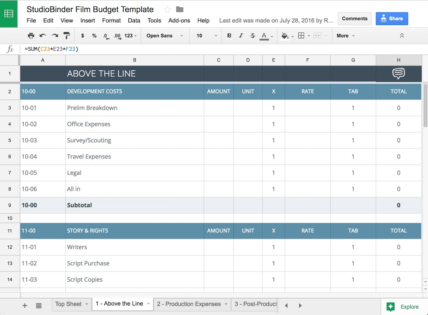 the essential guide for crafting film budgets with free film budget template studiobinder