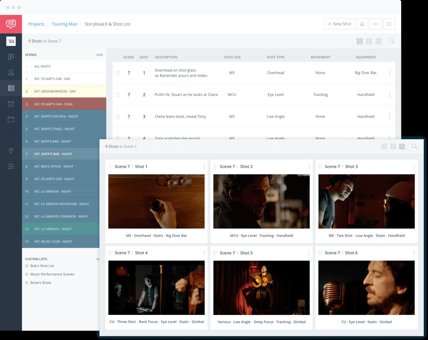 Shot List Template and Storyboard Template Builder - Create Online Using StudioBinder
