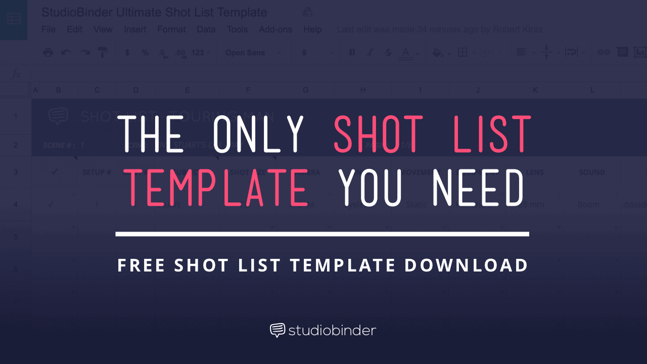 The Only Shot List Template You Need With Free Download