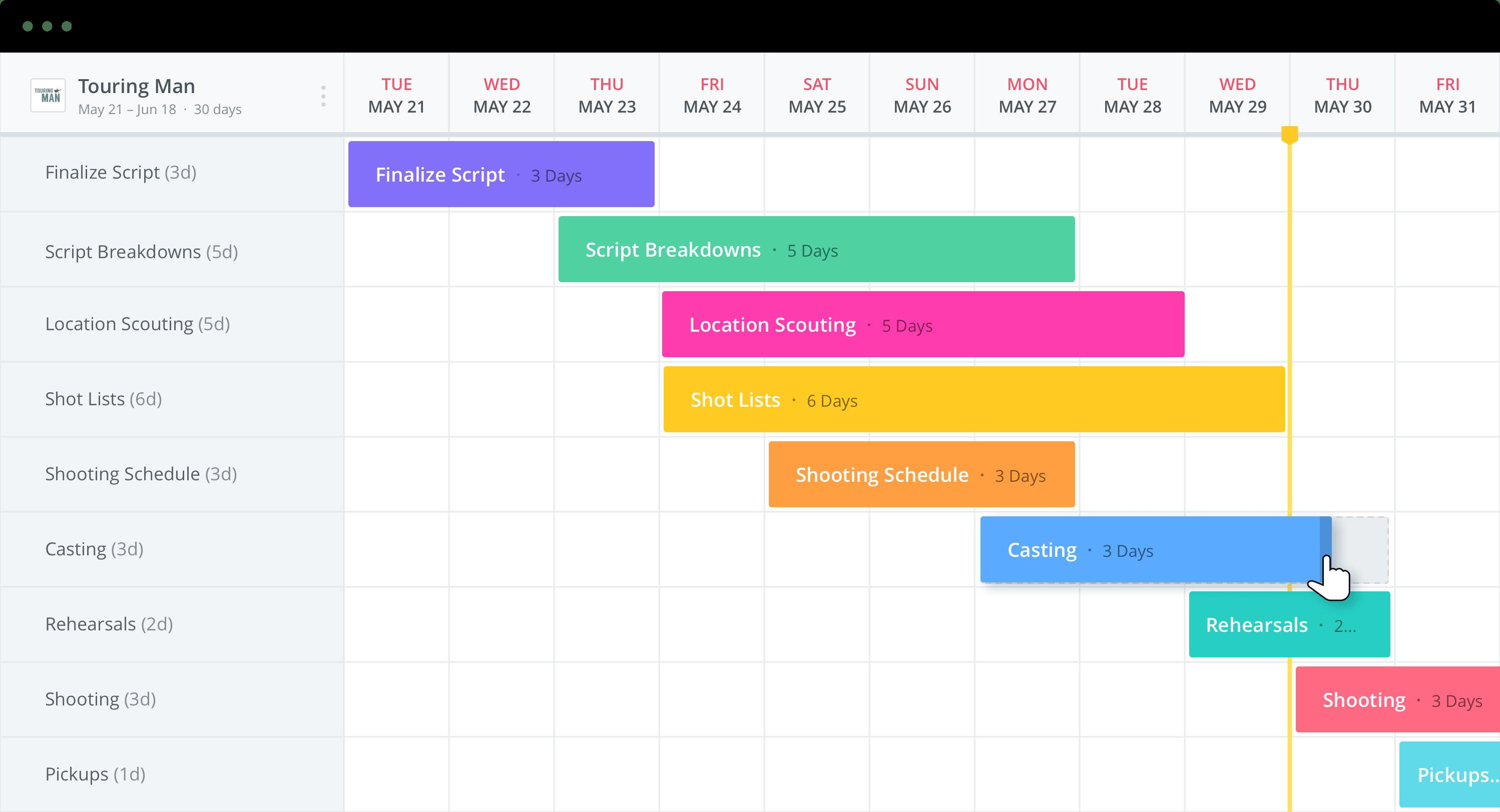 Company Culture Videos - Production Calendar - StudioBinder