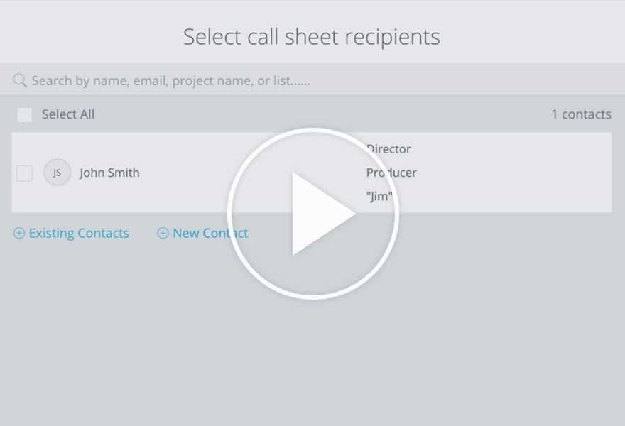 StudioBinder Tutorials - Call Sheets - Add New Recipients to a Call Sheet