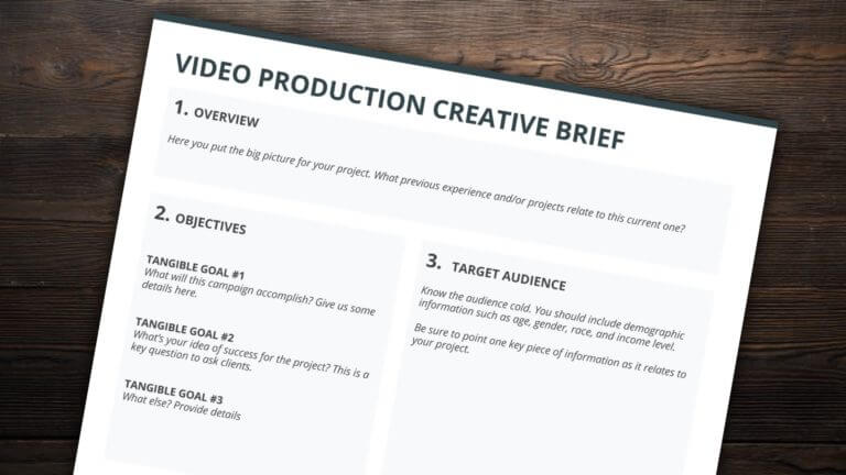 The Best Creative Brief Template For Video Agencies - Free Creative Brief Template Download - StudioBinder
