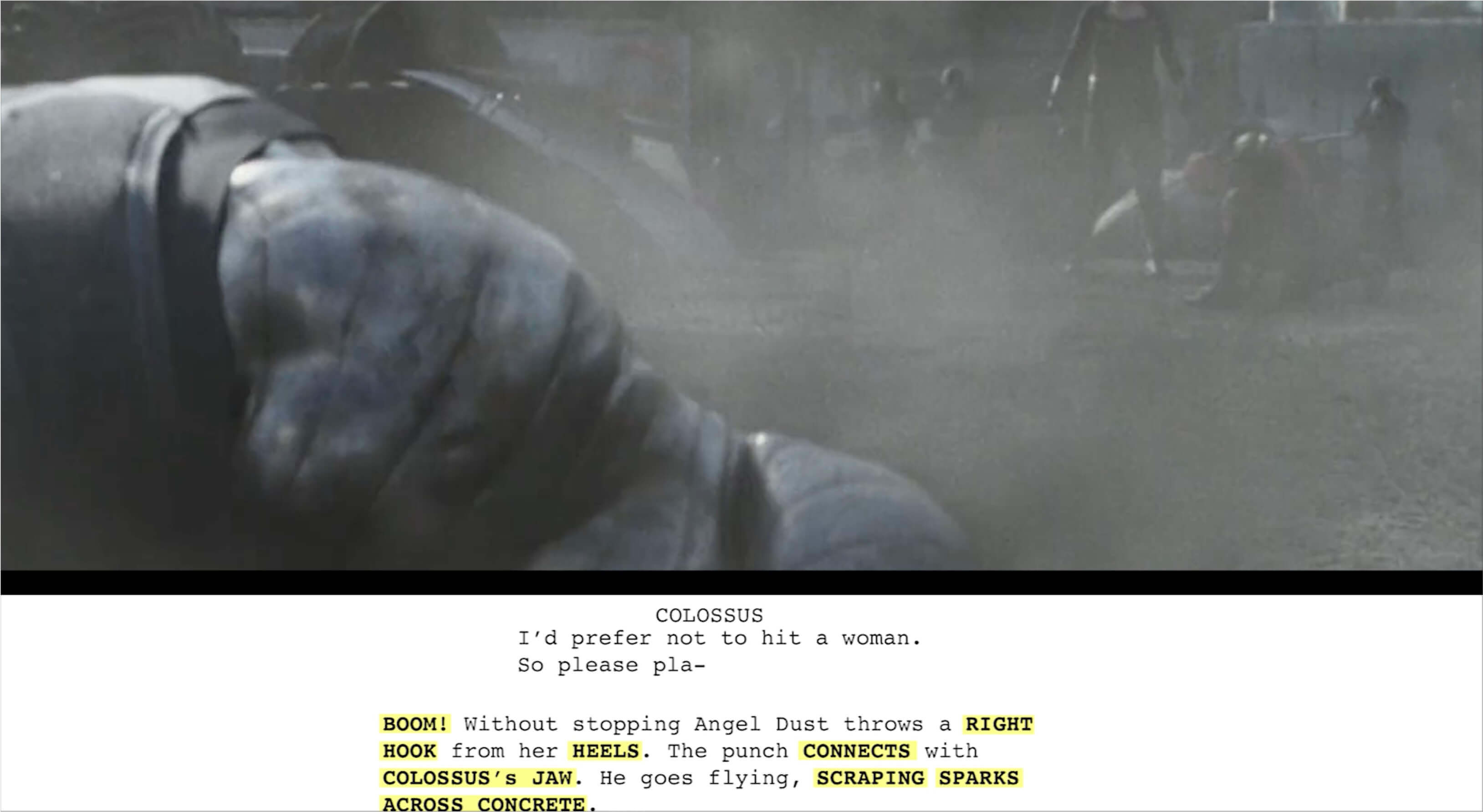Fight Scene - Deadpool - StudioBinder