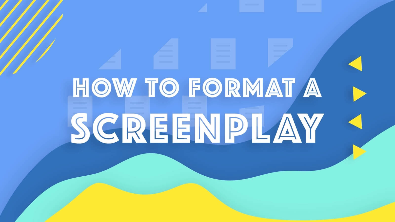 Formatting a Screenplay - Screenplay Format - Social Image - StudioBinder