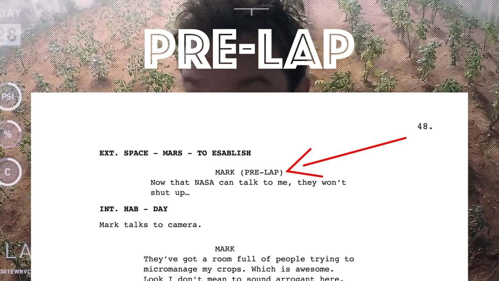 Screenwriting Format - Pre-Lap - StudioBinder