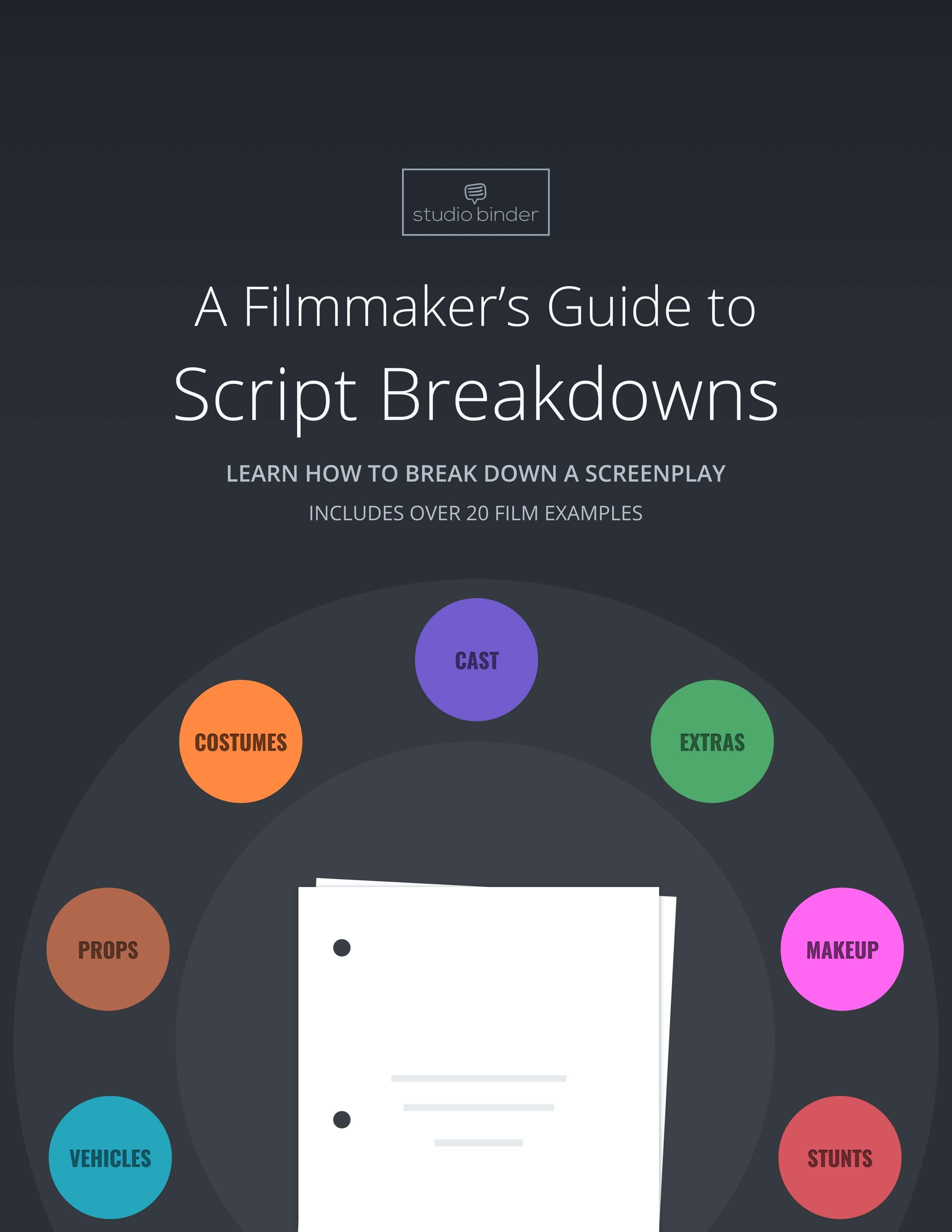 Script Breakdowns - Cover - StudioBinder
