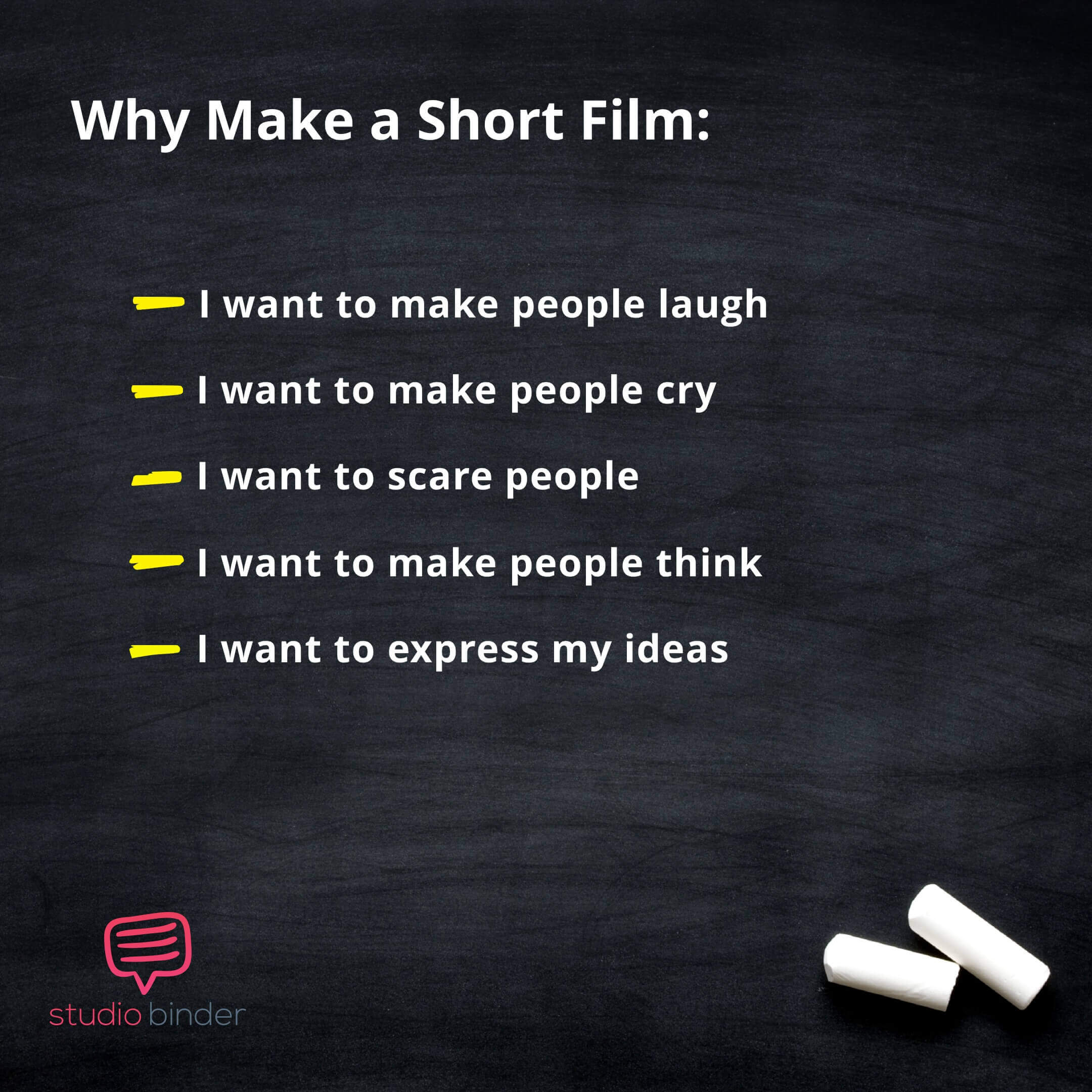 Short Film Ideas - Why Make a Short Film - StudioBinder