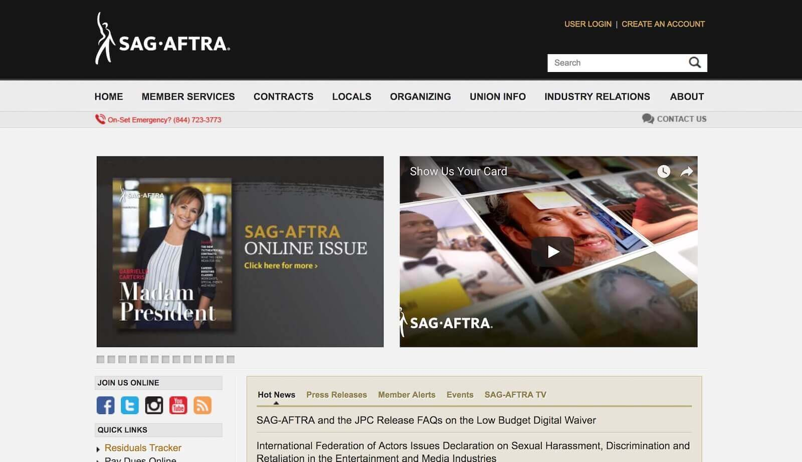 Casting Websites-SAG Website-StudioBinder