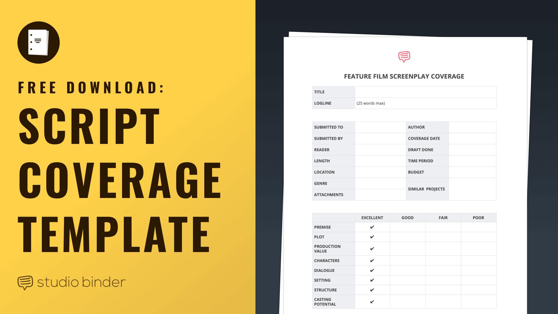 download free script coverage template
