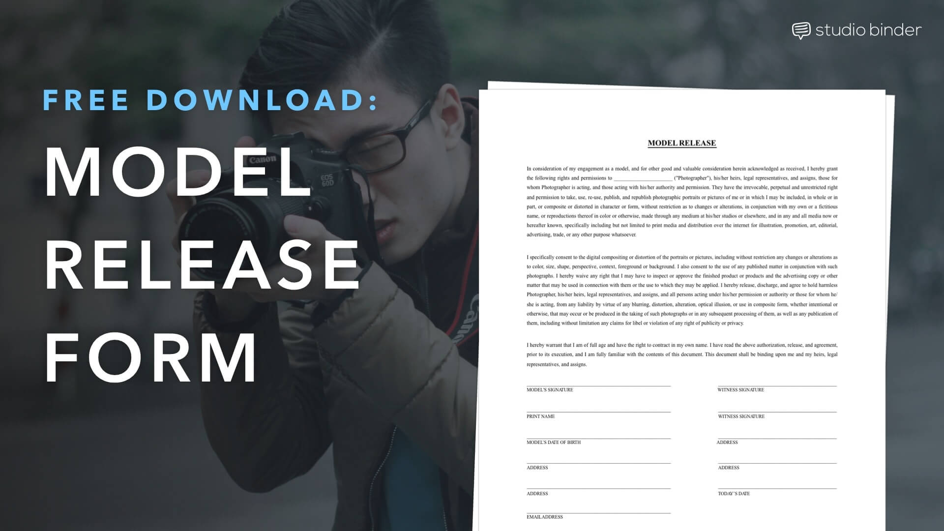 photograph relating to Free Printable Print Release Form titled Down load a Totally free Type Launch Style Template StudioBinder
