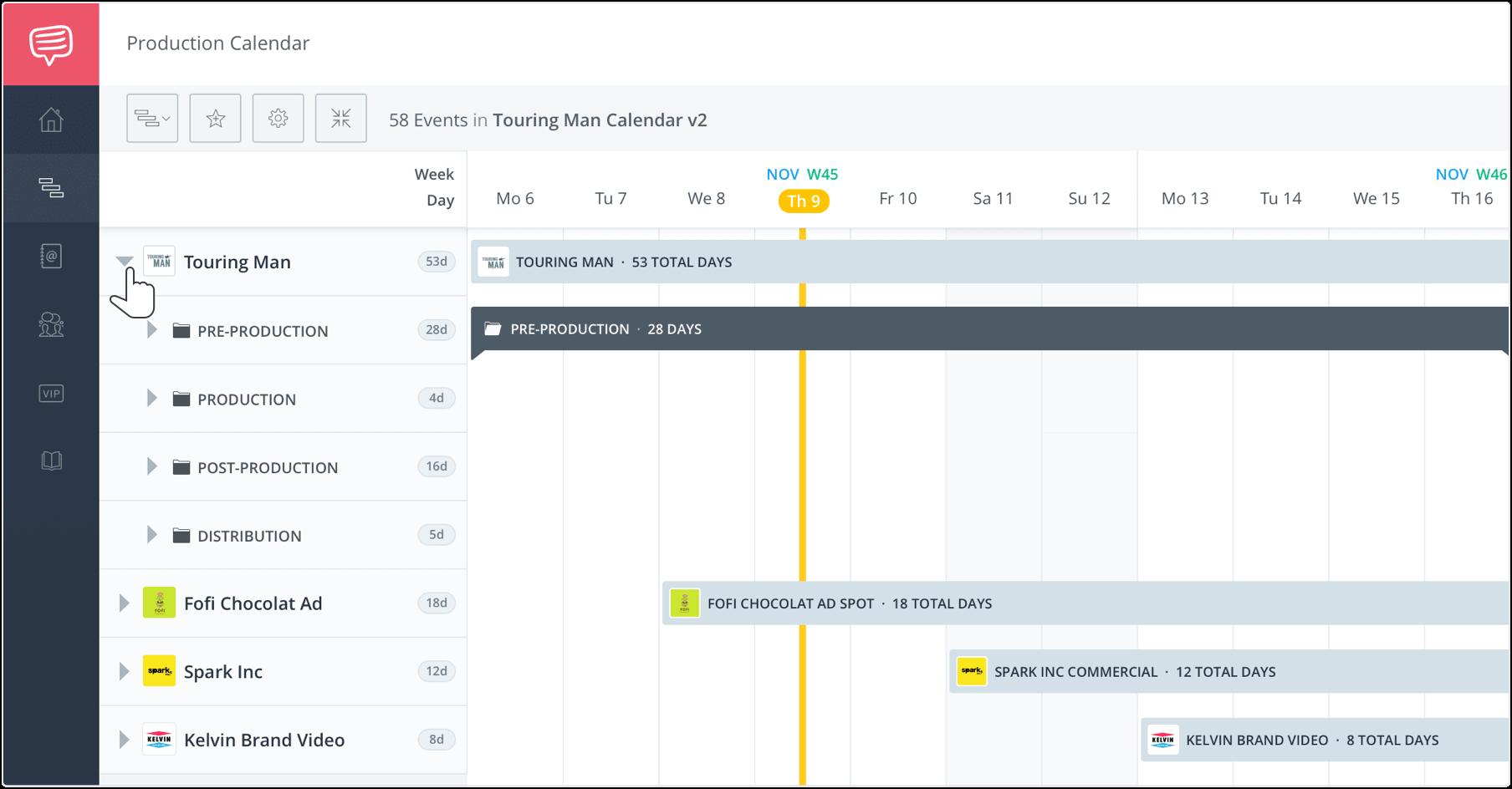 Studiobinder Production Calendar Software For Film Tv Video