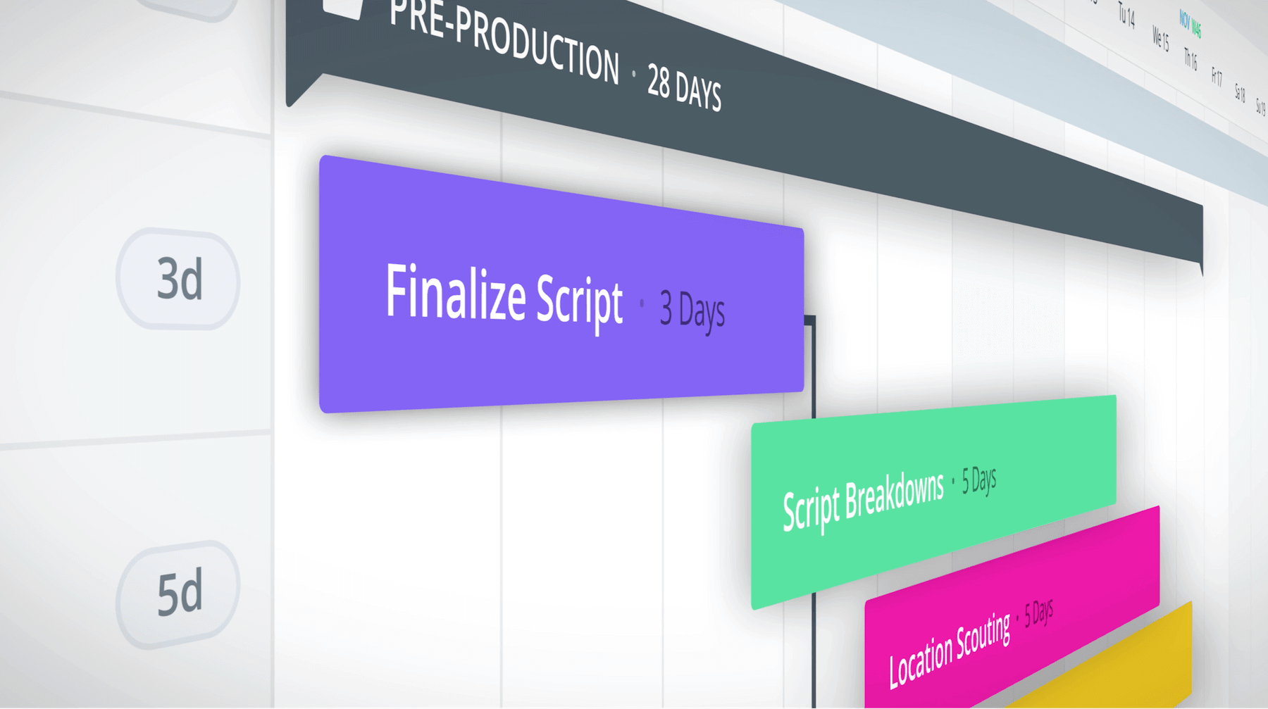 Production Calendar - Events Flying In - StudioBinder Production Management Software