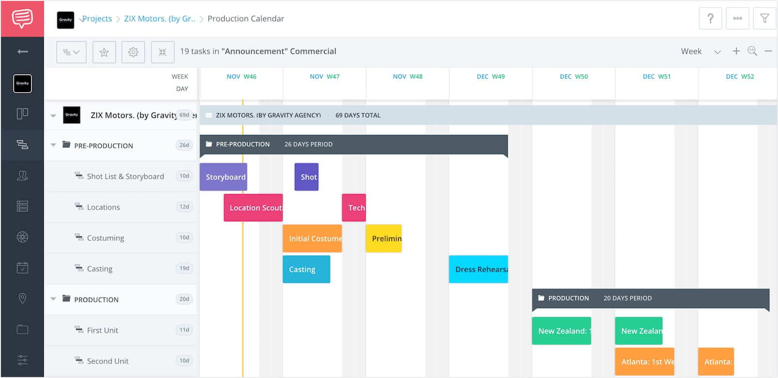 How Video Producers Use Film Production Calendar Templates & Software