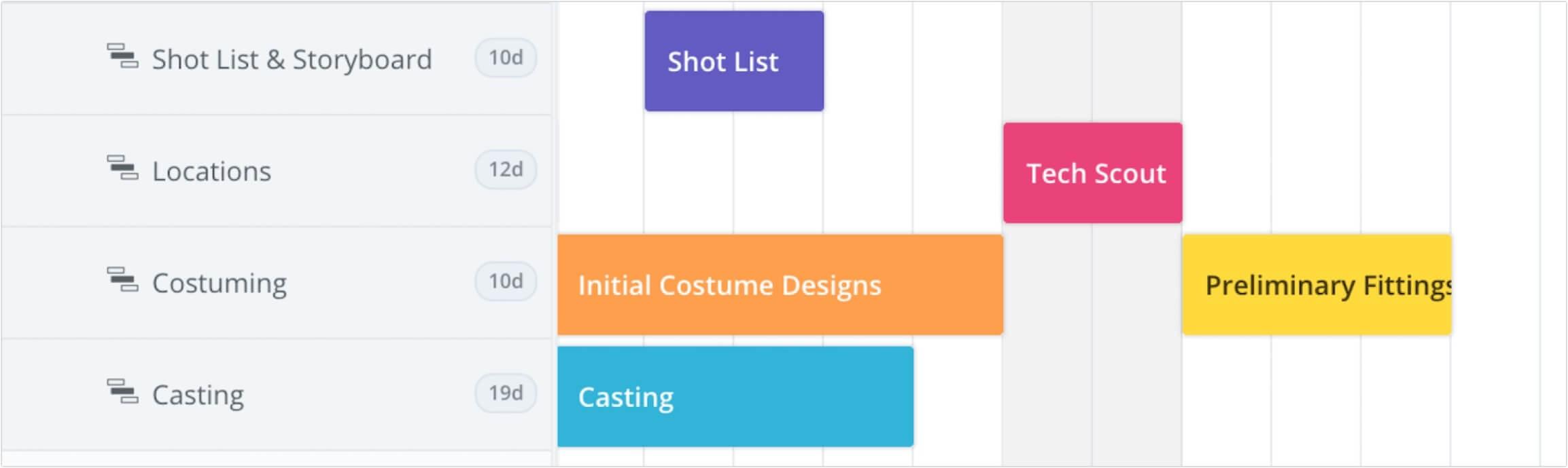 Film, Photo & Production Timeline - Add Events A - StudioBinder