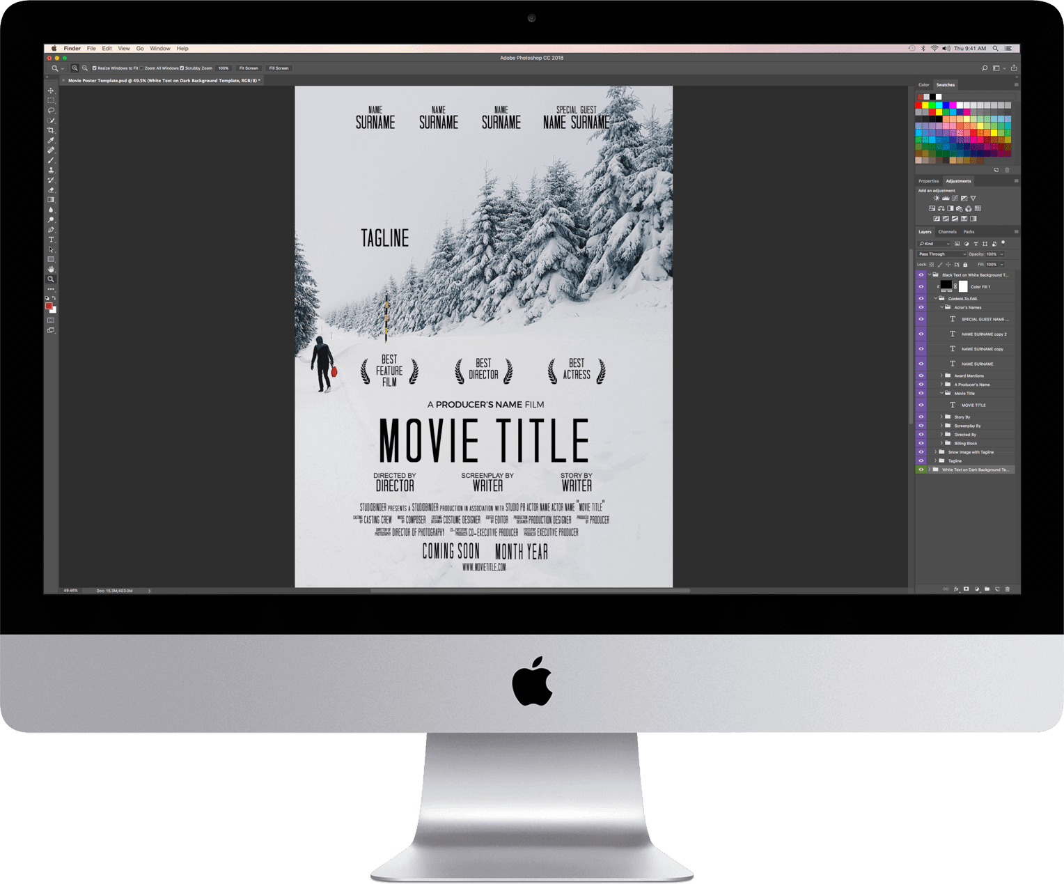 Free Movie Poster Template - Adobe Photoshop