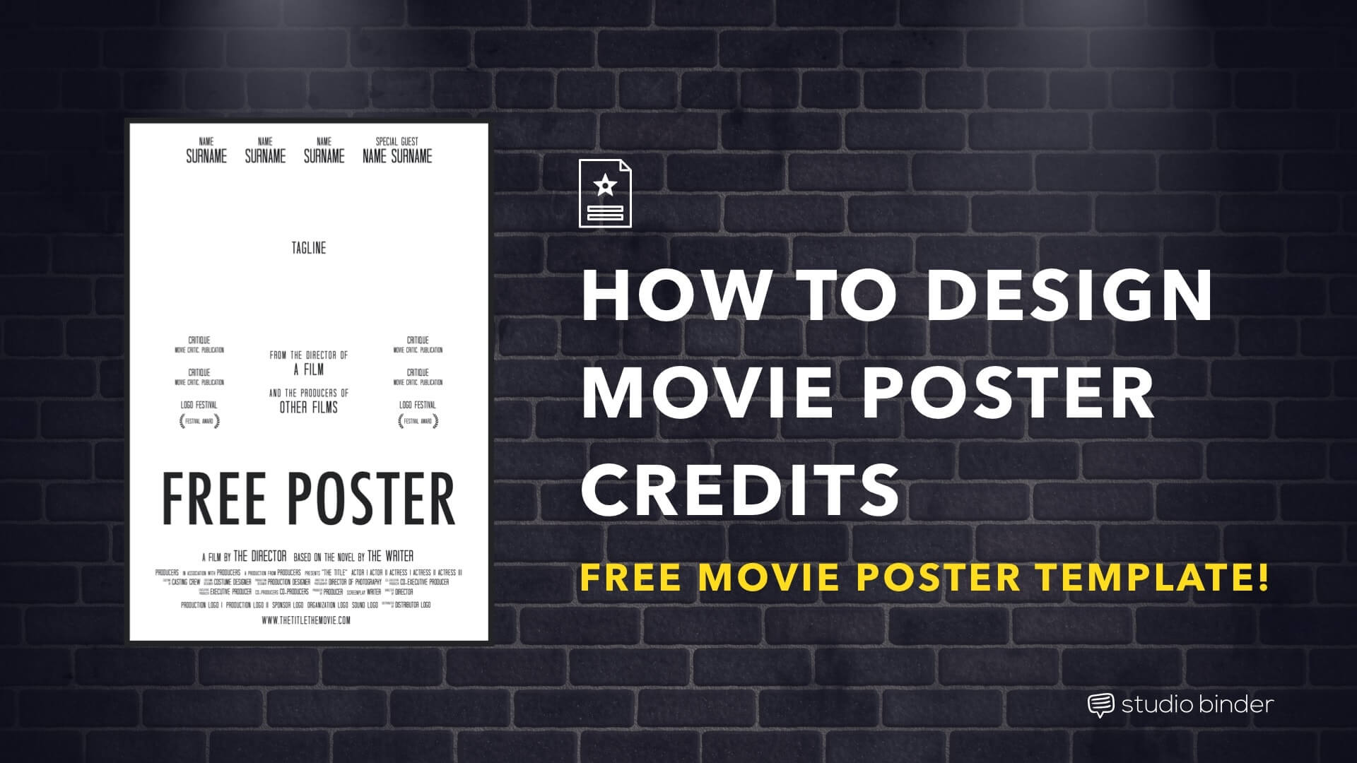 How To Make A Movie Poster Free Credits Template