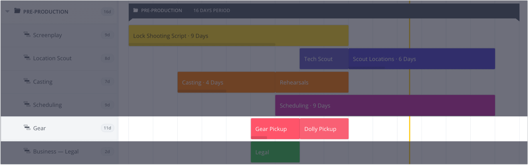 How to Plan a Shoot with a Film & Video Production Calendar - StudioBinder - 13