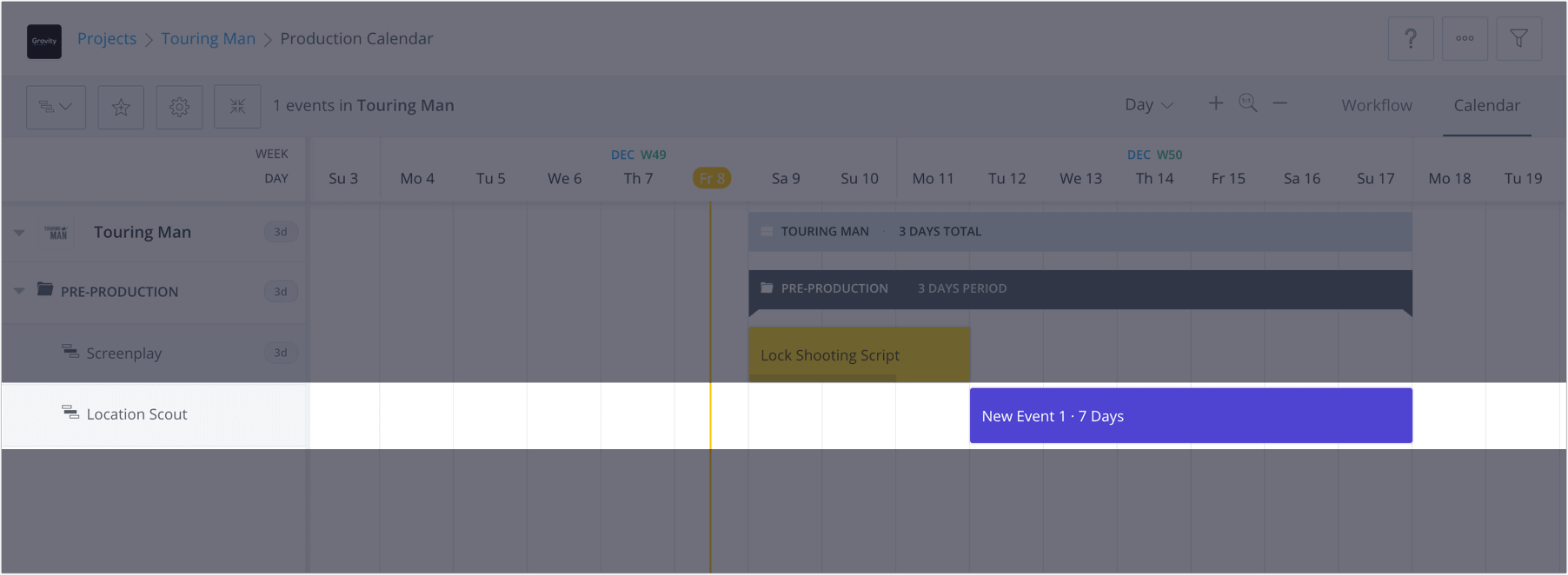 How to Plan a Shoot with a Film & Video Production Calendar - StudioBinder - 6a