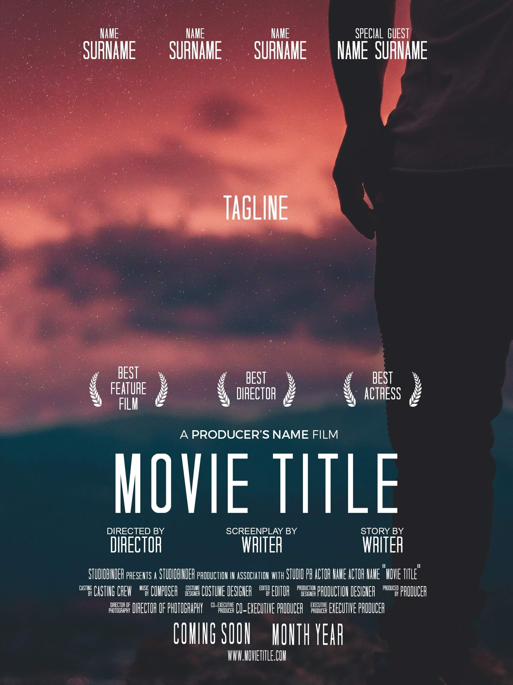 download your free movie poster template for photoshop