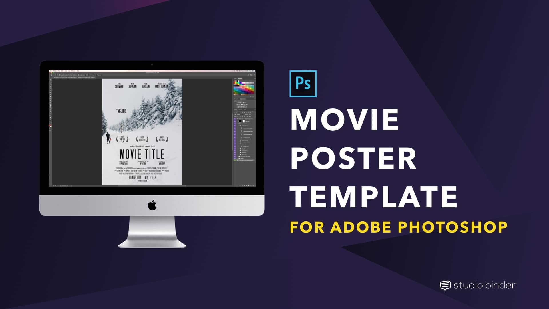 Movie Poster Template Free Download - Social Image - StudioBinder