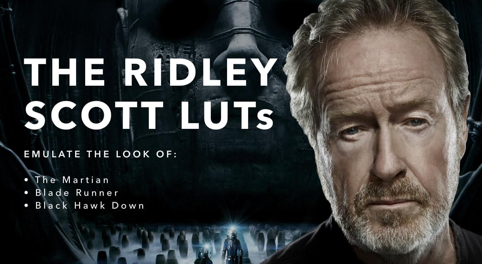 Ridley Scott LUTs Pack - StudioBinder