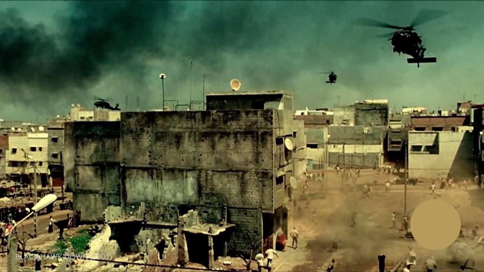 Ridley Scott Movie Color Palette - Black Hawk Down Helicopter