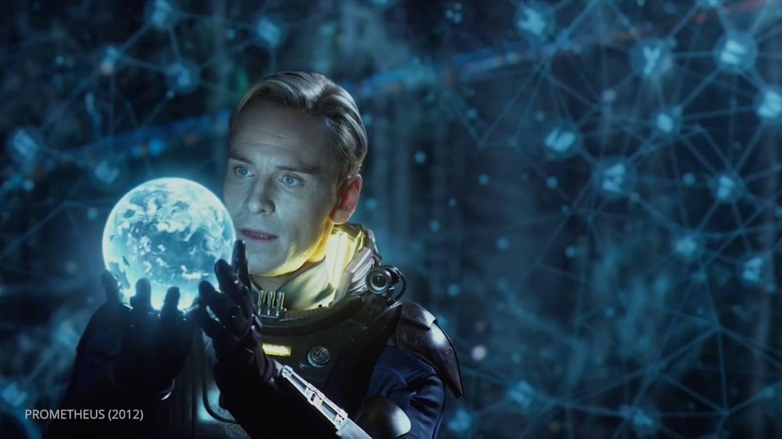 Ridley Scott Movie Color Palette - Prometheus - David on Ship