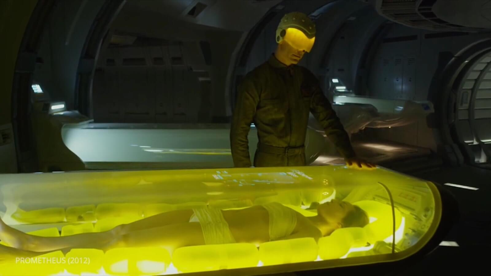 Ridley Scott Movie Color Palette - Prometheus - Yellow Chambers