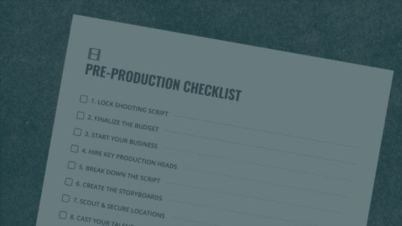 The Ultimate Pre Production Checklist with Free Download - Social
