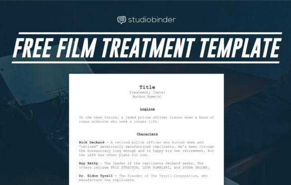Free Film Treatment Template - Featured - StudioBinder