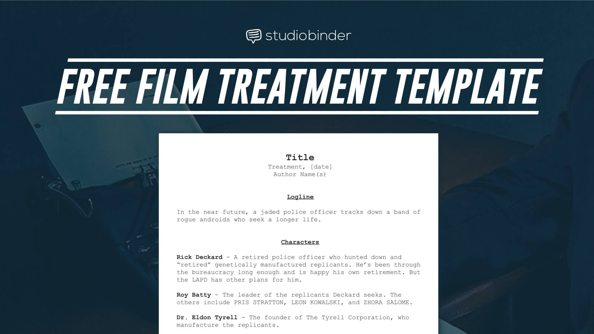 video treatment template - download your free film treatment template right now