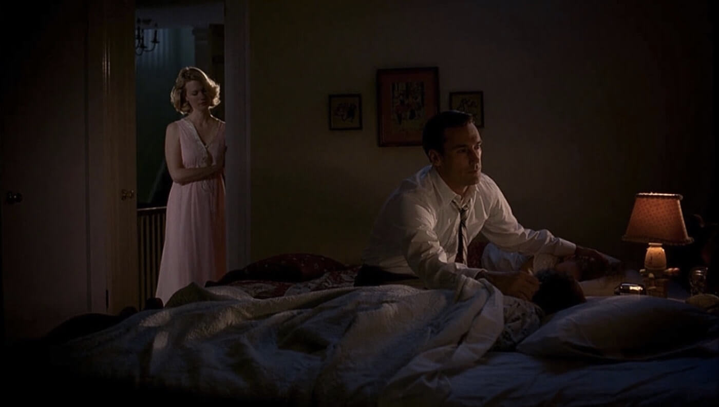 How to Create a TV Show Pitch Bible that Sells - Dramatic shot ended the Mad Men Pilot