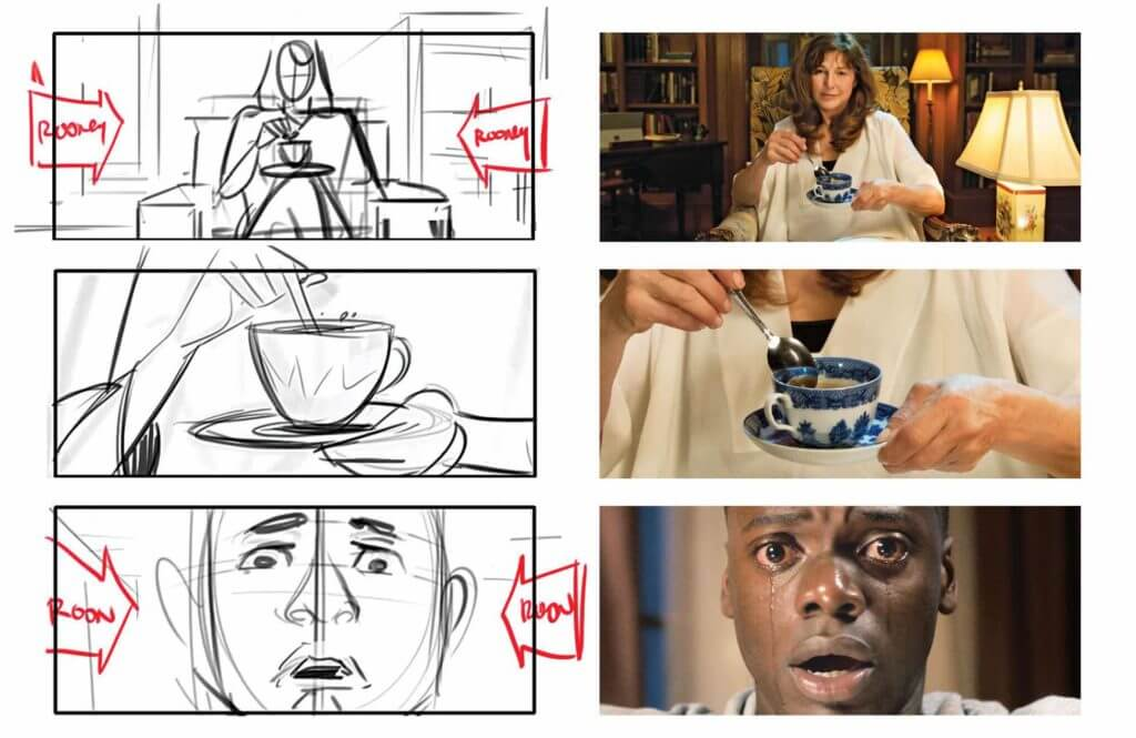 How to Master A StoryBoard like Jordan Peele Get Out - Chris Crying Sequence Storyboard - StudioBinder Film Production Software - 2