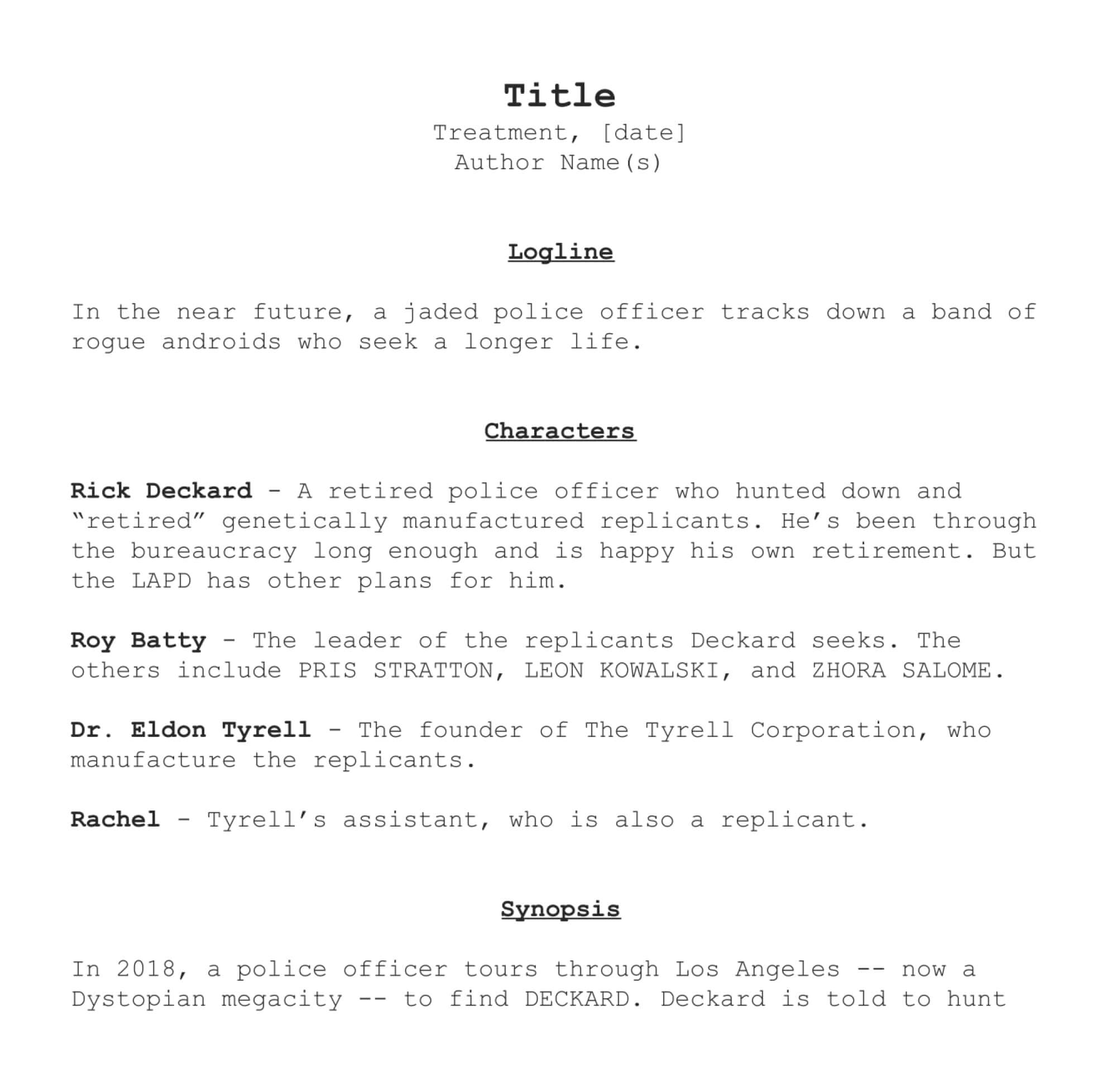 how to write a film treatment like the pros free template downloadable